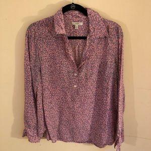 J. Crew floral blouse